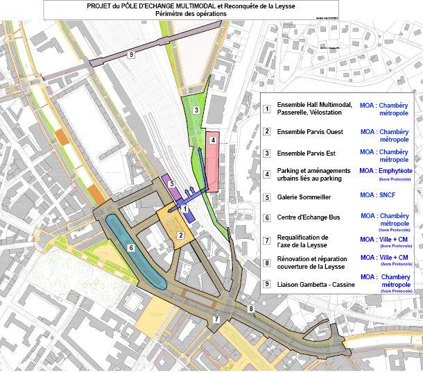 Le p le d 39 changes multimodal de la gare de chamb ry le for Projet chambery