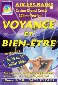 Festival salon de la voyance et du bien etre conf rences for Salon de la voyance aix les bains